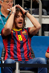 31.05.2014, Lanxess Arena, Koeln, GER, EHF CL, FC Barcelona vs SG Flensburg Handewitt, Halbfinale, im Bild Carles Puyol (FC Barcelona) // during the EHF Champions League semifinal match between FC Barcelona and SG Flensburg Handewitt at the Lanxess Arena in Koeln, Germany on 2014/05/31. EXPA Pictures © 2014, PhotoCredit: EXPA/ Eibner-Pressefoto/ Schueler<br /> <br /> *****ATTENTION - OUT of GER*****