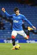 Ianis Hagi (Rangers) shoots at goal during the Scottish Premiership match between Rangers and Livingston at Ibrox, Glasgow, Scotland on 25 October 2020.