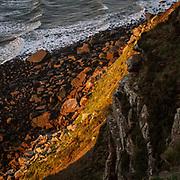 Last light by Salton Bay, Whitehaven, Cumbria.