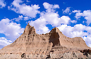 Eroded spires in the badlands near Cedar Pass, Badlands National Park, South Dakota