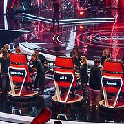 NLD/Hilversum/20190201- TVOH 2019 1e liveshow, make-up word bijgewerkt van de jury leden