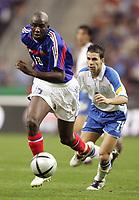 Fotball<br /> VM-kvalifisering<br /> Frankrike v Kypros 4-0<br /> 12.10.2005<br /> Foto: Dppi/Digitalsport<br /> NORWAY ONLY<br /> <br /> ALOU DIARRA (FRA) / KONSTANTINOS MAKRIDIS (CYP)