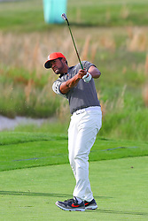 May 16, 2019 - Farmingdale, NY, U.S. - FARMINGDALE, NY - MAY 16:  Tony Finau of the United States hits from the fairway on the 18th hole during the first round of the 2019 PGA Championship at the Bethpage Black course on May 16, 2019 in Farmingdale, New York. (Photo by Rich Graessle/Icon Sportswire) (Credit Image: © Rich Graessle/Icon SMI via ZUMA Press)