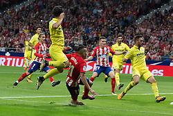 October 28, 2017 - Madrid, Spain - The goal of Correa..Draw at 1 in Wanda Metropolitano stadium. (Credit Image: © Jorge Gonzalez/Pacific Press via ZUMA Wire)