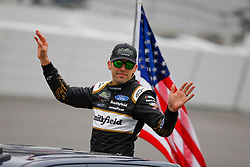February 10, 2019 - Daytona, FL, U.S. - DAYTONA, FL - FEBRUARY 10: Aric Almirola, driver of the #10 Smithfield Prime Fresh Ford, waves during the Advance Auto Parts Clash on February 10, 2019 at Daytona International Speedway in Daytona Beach, FL. (Photo by David Rosenblum/Icon Sportswire) (Credit Image: © David Rosenblum/Icon SMI via ZUMA Press)
