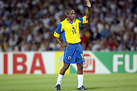 FOOTBALL - CONFEDERATIONS CUP 2003 - GROUP A - 030618 - FRANKRIKE v COLOMBIA - JORGE LOPEZ (COL) - PHOTO GUY JEFFROY / DIGITALSPORT