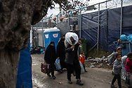 A family arrives to the camp. About 20000 are living in a makeshift camp nearby the city of Moria on the island of Lesbos in miserable conditions, most of the without water, electricity nor sanitary facilities.  Federico Scoppa