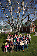 Community portrait at the Tunbridge Public Library in Tunbridge, Vt., on May 21, 2016. (Photo by Geoff Hansen)