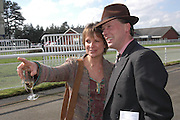 Viscountess Windsor and Henry Daly. Ludlow Charity Race Day,  in aid of Action Medical Research. Ludlow racecourse. 24 march 2005. ONE TIME USE ONLY - DO NOT ARCHIVE  © Copyright Photograph by Dafydd Jones 66 Stockwell Park Rd. London SW9 0DA Tel 020 7733 0108 www.dafjones.com