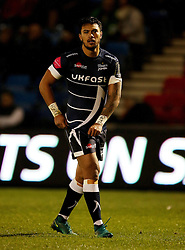 Sale Sharks Denny Solomona during the European Champions Cup, pool three mach at the AJ Bell Stadium, Salford. PRESS ASSOCIATION Photo. Picture date: Sunday December 18, 2016. See PA story RUGBYU Sale. Photo credit should read: Richard Sellers/PA Wire