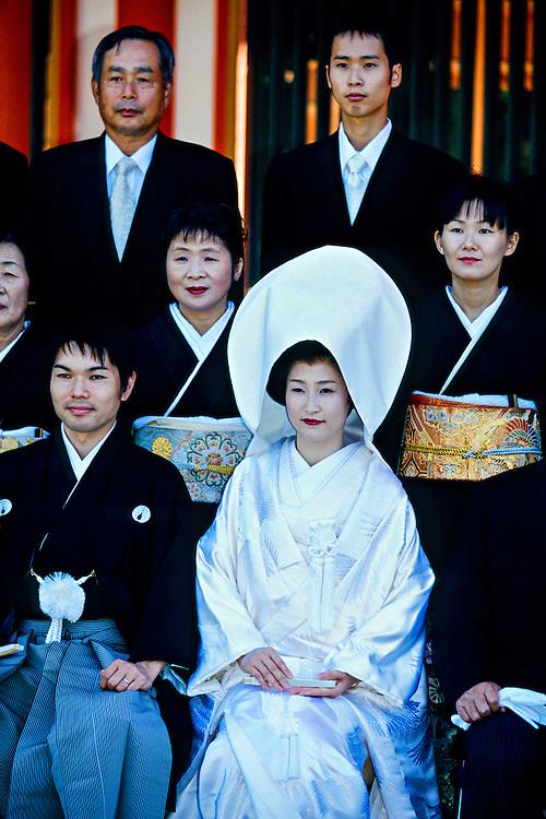 Japanese wedding party, Shimogamo Shrine, Kyoto, Japan