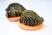 Steamed sweet potato flavoured Gyoza (Jiaozi) A Chinese dumpling