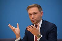 DEU, Deutschland, Germany, Berlin, 12.03.2018: FDP-Parteichef Christian Lindner in der Bundespressekonferenz zum Koalitionsvertrag von CDU, CSU und SPD.