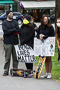 Bar Harbor, Maine, USA. 7 June, 2020. Local students organized the MDI March and Rally In Solidarity with Black Lives Matter.