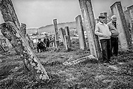 Funeral at the Azeri cemetery in Derbent. Derbent. 2008.