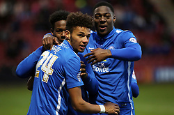 Lee Angol of Peterborough United celebrates scoring his goal - Mandatory byline: Joe Dent/JMP - 07966 386802 - 21/11/2015 - FOOTBALL - Alexandra Stadium - Crewe, England - Crewe Alexandra v Peterborough United - Sky Bet League One