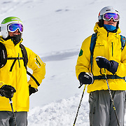 Steve Chieciuch and Willi Glanzing of Telluride watch their competition.