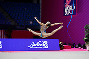 Alina Harnsko during qualifing in Pesaro World Cup at Virtifrigo Arena on may 28-29, 2021. Alina born on August 9 ,2002 in Minsk. She is a rhythmic gymnast member of the Belarusian National Team.