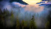 Image of the landscape of the North Cascades in the fall, Washington, Pacific Northwest by Randy Wells