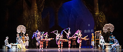 La Bayadere <br /> A ballet in three acts <br /> Choreography by Natalia Makarova <br /> After Marius Petipa <br /> The Royal Ballet <br /> At The Royal Opera House, Covent Garden, London, Great Britain <br /> General Rehearsal <br /> 30th October 2018 <br /> <br /> STRICT EMBARGO ON PICTURES UNTIL 2230HRS ON THURSDAY 1ST NOVEMBER 2018 <br /> <br /> Photograph by Elliott Franks Royal Ballet's Live Cinema Season - La Bayadere is being screened in cinemas around the world on Tuesday 13th November 2018 <br /> --------------------------------------------------------------------