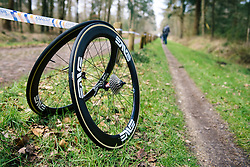 Cervélo Bigla wheels ready for the cobbles - Ronde van Drenthe 2016, a 138km road race starting and finishing in Hoogeveen, on March 12, 2016 in Drenthe, Netherlands.