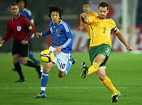 Fotball<br /> Australia<br /> Foto: imago/Digitalsport<br /> NORWAY ONLY<br /> <br /> 11.02.2009  <br /> Lucas Neill (Australien, re.) gegen Shunsuke Nakamura (Japan)