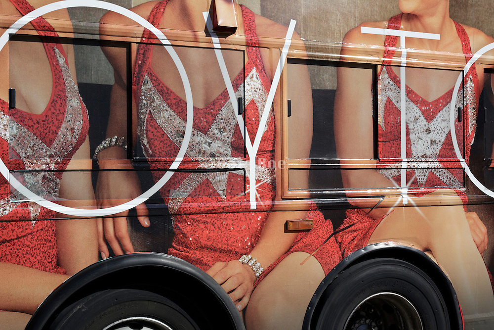 advertising on a public bus in New York city