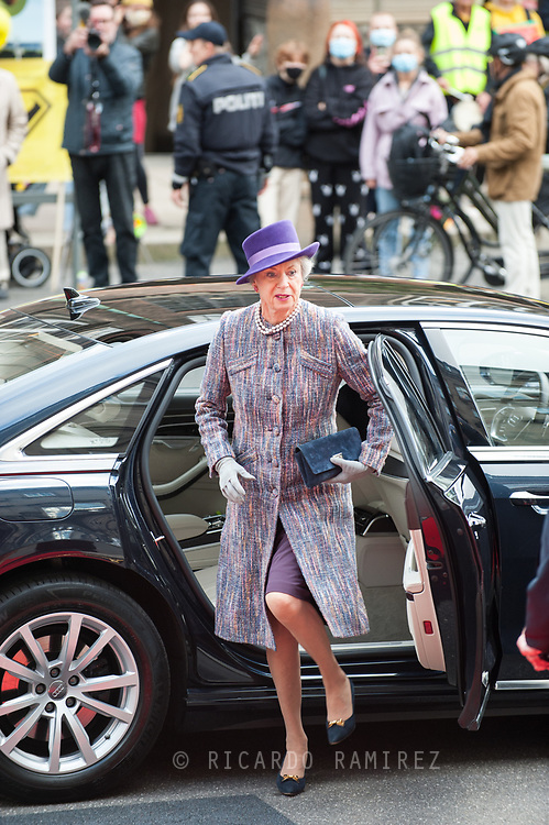 06.10.2020. Copenhagen, Denmark.<br /> Princess Benedikte's arrival to Christiansborg Palace for attended the opening session of the Danish Parliament (Folketinget).<br /> Photo: © Ricardo Ramirez