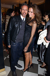 CAMILLA AL FAYED and PATRICK COX at a party to celebrate the opening of PPQ Mayfair at 47 Conduit Street, London W1 on 18th September 2006.<br />