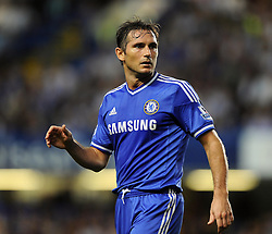 "Chelsea's Frank Lampard  - Photo mandatory by-line: Joe Meredith/JMP - Tel: Mobile: 07966 386802 21/08/2013 - SPORT - FOOTBALL - Stamford Bridge - London - Chelsea V Aston Villa - Barclays Premier League - EDITORIAL USE ONLY. No use with unauthorised audio, video, data, fixture lists, club/league logos or ""live"" services. Online in-match use limited to 45 images, no video emulation. No use in betting, games or single club/league/player publications"