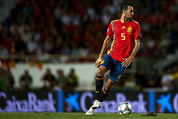 September 11, 2018 - Elche, Spain - Sergio Busquets of Spain controls the ball during the UEFA Nations League football match between Spain and Croatia at Martinez Valero Stadium in Elche, Spain on September 11, 2018. (Credit Image: © Jose Breton/NurPhoto/ZUMA Press)