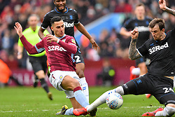 March 16, 2019 - Birmingham, England, United Kingdom - Middlesbrough defender Aden Flint (24) blocks a shot from Anwar El Ghazi (22) of Aston Villa during the Sky Bet Championship match between Aston Villa and Middlesbrough at Villa Park, Birmingham on Saturday 16th March 2019. (Credit Image: © Mi News/NurPhoto via ZUMA Press)