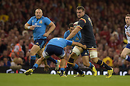 Sam Warburton of Wales makes a break. Wales v Italy, RWC warm up international match at the Millennium Stadium in Cardiff ,South Wales on Saturday 5th Sept  2015. pic by Andrew Orchard, Andrew Orchard sports photography.