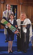 Youth participates in her Bat Mitzvah at the Temple Ohev Sholom Synagogue in Harrisburg, PA