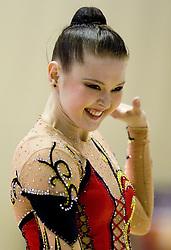 Alina Maksymenko of Ukraine during 24th MTM International Youth Tournament in Rhythmic Gymnastics organized by Narodni dom Ljubljana, on April 9, 2011 in Arena Krim Galjevica, Ljubljana, Slovenia.  (Photo By Vid Ponikvar / Sportida.com)