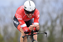 March 7, 2018 - Saint Etienne, France - SAINT-ETIENNE, FRANCE - MARCH 7 : DEGENKOLB John  (GER)  of Trek - Segafredo during stage 4 of the 2018 Paris - Nice cycling race, an individual time trial over 18,4 km from La Fouillouse to Saint-Etienne on March 07, 2018 in Saint-Etienne, France, 07/03/2018 (Credit Image: © Panoramic via ZUMA Press)