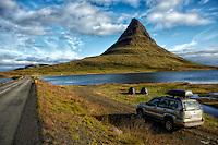 Camping out at Kirkjufell Mountain in Grundarfjordur, Iceland.