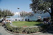 Svizzera, Locarno, lungolago........Switzerland,  Canton Ticino,  Locarno, the lakefront  gardens  Lake Maggiore and its valleys are alpine landscapes that merge into typically Mediterranean scenery, where popular traditions are combined with internationally renowned events, and villages, in which time seems to have stood still, peep down from their lofty peaks on towns that are looking to the future. Fascinating contrasts that make this a unique region