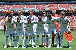 July 22, 2018 - Santa Clara, California, United States - Santa Clara, CA - Sunday July 22, 2018: San Jose Earthquakes Starting Eleven during a friendly match between the San Jose Earthquakes and Manchester United FC at Levi's Stadium. (Credit Image: © John Todd/ISIPhotos via ZUMA Wire)