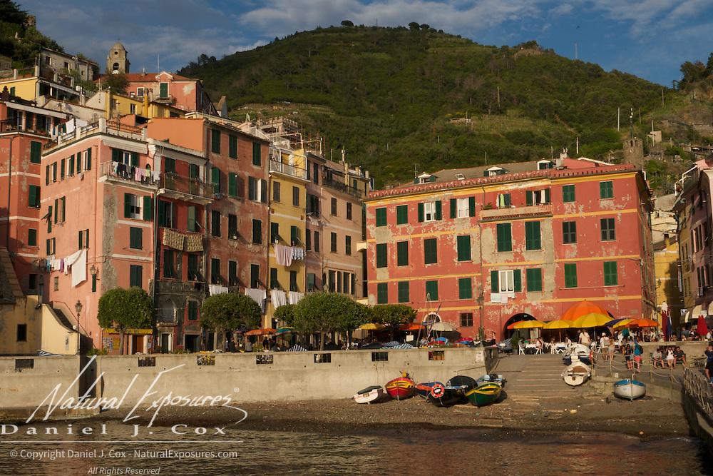 The seaside village of Riomaggiore, Italy
