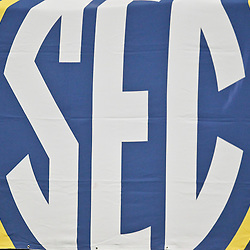 Dec 3, 2011; Atlanta, GA, USA; A detailed view of an SEC sign during the first half of the 2011 SEC championship game between the LSU Tigers and the Georgia Bulldogs at the Georgia Dome.  Mandatory Credit: Derick E. Hingle-US PRESSWIRE