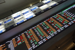 April 30, 2019 - Sao Paulo, Brazil - A statement by President Jair Bolsonaro asking for lower interest rates at Banco do Brasil (BB) put a brake on the bullish move of the Bovespa Index yesterday. The stock market closed the trading session with a fall of 0.05% at 96,187.75 points. During his participation in the opening of Agrishow, Bolsonaro defended the reduction of Banco do Brasil's interest in the promotion of rural credit. The president addressed the president of BB, Rubem Novaes, and, in a tone of good humor, said: ''I appeal, Rubem, to your heart and patriotism, that these interests fall a little more.'' Bolsonaro said during the event that the government will release R $ 1 billion into the rural insurance program, but did not give details about the credit. The statement on interest had immediate effect on Banco do Brasil's shares, which abandoned the bullish signal with which they had been operating and contaminated the other shares of the financial sector. (Credit Image: © Cris Faga/NurPhoto via ZUMA Press)
