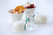 A sack of yogurt and fruit