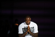 GUANGZHOU, CHINA - SEPTEMBER 09: <br /> <br /> The NBA player Lebron James of Cleveland Cavaliers, attends a commercial event at Guangzhou Tianhe Sports Center on September 09, 2016 in Guangzhou, Guangdong Province of China.<br /> ©Exclusivepix Media