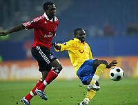 Fotball<br /> Tyskland<br /> Foto: Witters/Digitalsport<br /> NORWAY ONLY<br /> <br /> 21.02.2008<br /> <br /> v.l. Collin Benjamin HSV, Onakachi Okonkwo Tico<br /> <br /> UEFA-Cup Hamburger SV - FC Zürich