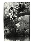 Greg Supra and Dotty Smith. May morning. Oxford. 1983