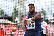 Earwyn Abdou (FRA) competes in Hammer Throw Men during the IAAF World U20 Championships 2018 at Tampere in Finland, Day 2, on July 11, 2018 - Photo Julien Crosnier / KMSP / ProSportsImages / DPPI