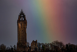 16FEB21 Rainbow at the Wallace Monument, Stirling.