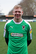 AFC Wimbledon goalkeeper Aaron Ramsdale (35) in \wei\ home kit during the EFL Sky Bet League 1 match between AFC Wimbledon and Barnsley at the Cherry Red Records Stadium, Kingston, England on 19 January 2019.
