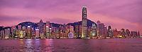 Chine, Hong Kong, Central vu depuis Kowloon // China, Hong Kong, Central from Kowloon